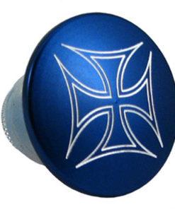 "Blue cross Dome Handlebar End Cap 1/2""-3/4"""