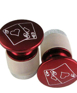 Red Engraved Dome Handlebar End Cap