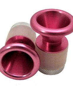"""pink Cone Handlebar End Caps 3/4""""-1"""" Bar ID"""