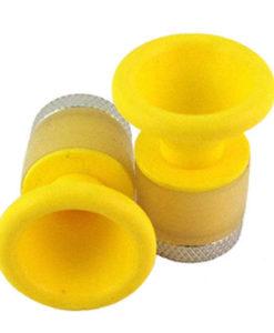"Yellow Cone Handlebar End Cap PVC 3/4""-1"" Bar ID"