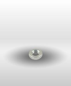 silver Presta Valve Stem Collar