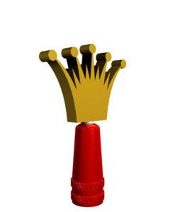 Presta Valve Stem Cap Crown Spinner