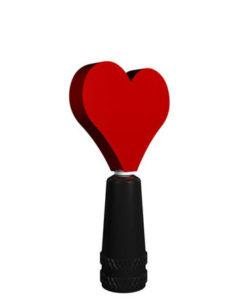 Presta Valve Stem Cap Heart Spinner