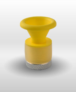 Cone Handlebar End Cap PVC yellow