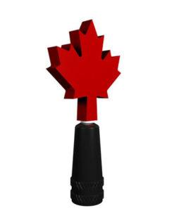 Presta Valve Stem Cap Maple Leaf Spinner
