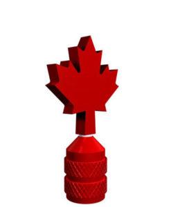 Schrader Valve Stem Cap Maple Leaf Spinner