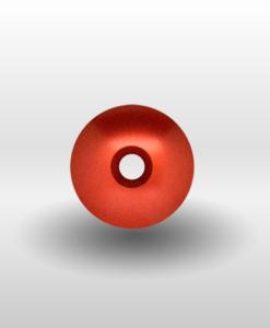 """Red 1⅛"""" Ultra Lite Threadless Headset Cap"""