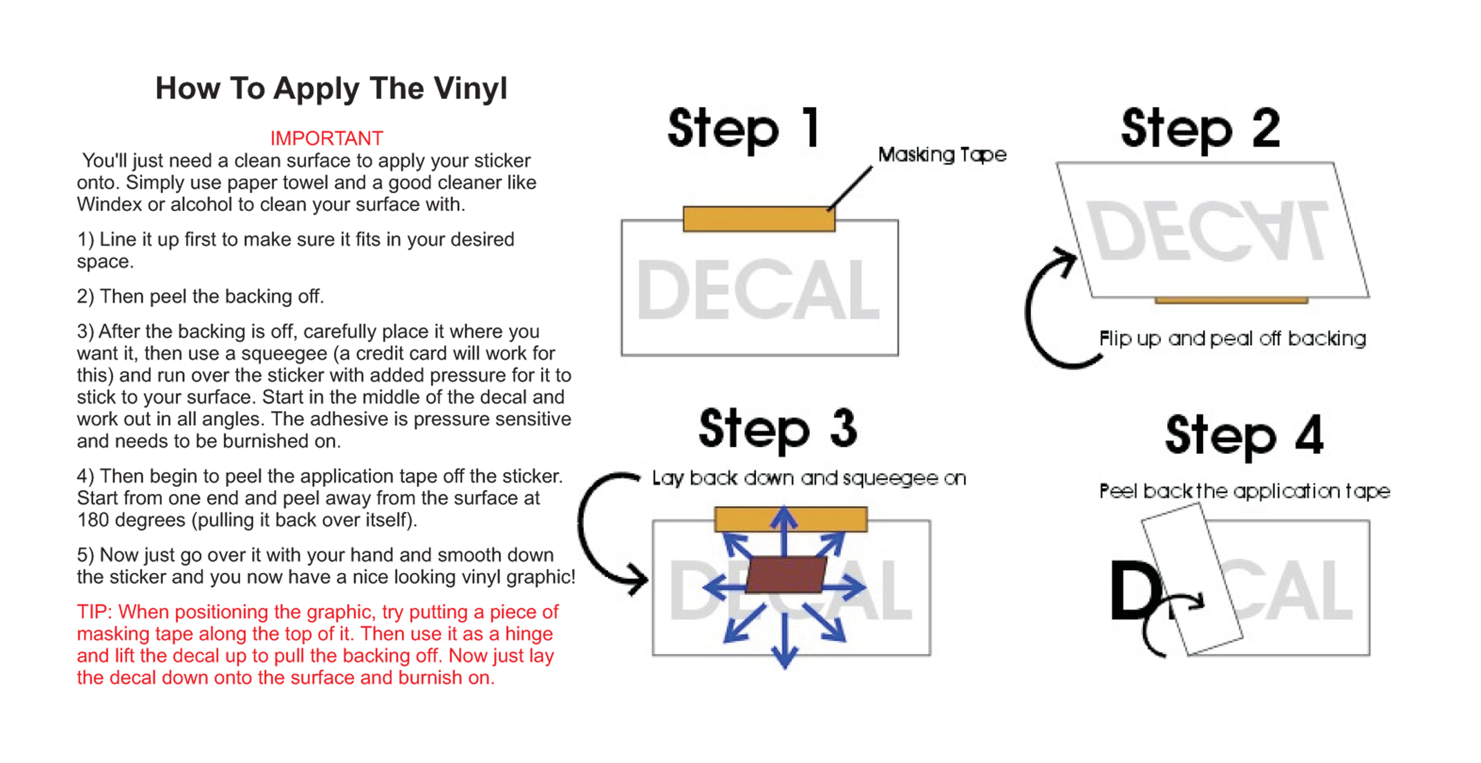 It is a picture of Printable Vinyl Decal Instructions within blank