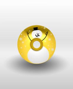 snowman headset cap gold
